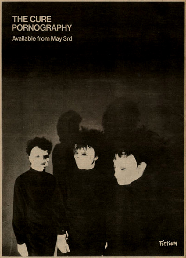 THE CURE, Pornography - annuncio della Fiction Records