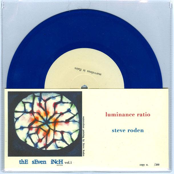 Luminance Ratio Steve Roden