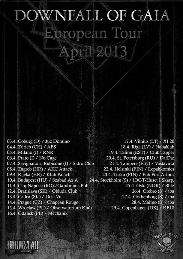 Downfall Of Gaia - tour