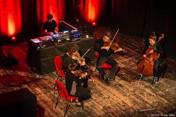 Mika Vainio & Quartetto Maurice © Angelo Salvin