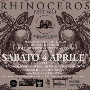 Sabato 4 aprile a Recanati c'è il Rhinoceros Fest
