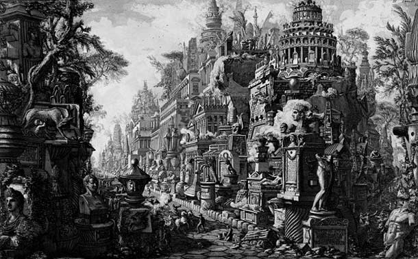 Giovanni Battista Piranesi, Via Appia immaginaria