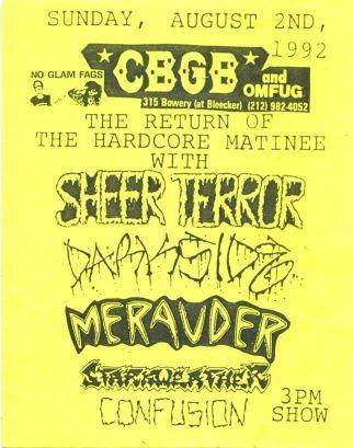 cbgbs hardcore matinee 1992