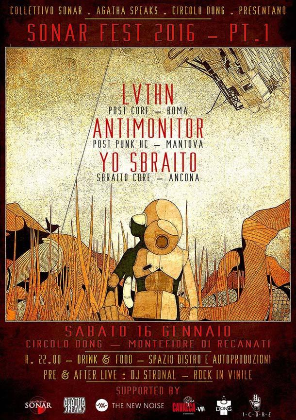 Sabato 16/1/2016 torna il Sonar Fest a Recanati