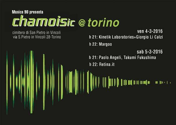 Venerdì 4 e sabato 5 marzo CHAMOISic@Torino