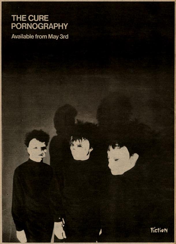 THE CURE, Pornography - annuncio della Fiction Records
