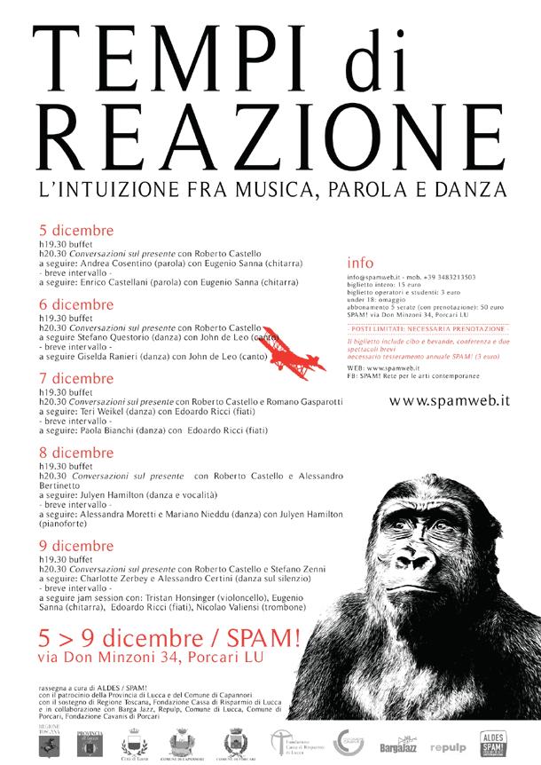 Tempi di reazione: l'intuizione fra musica, parola e danza in provincia di Lucca