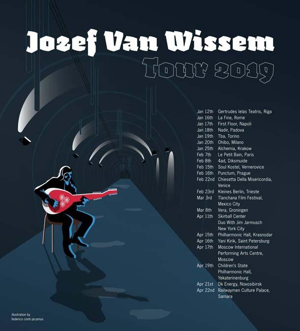 jozef van wissem tour 2019