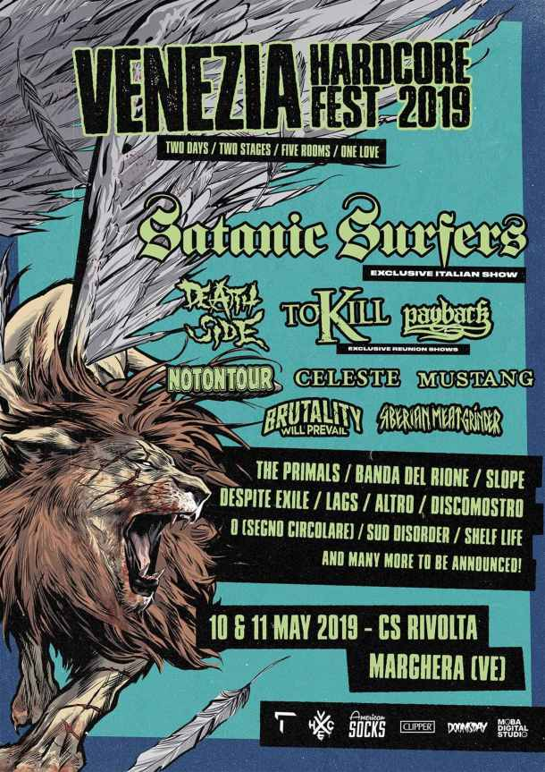 Venezia Hardcore Fest 2019 con Satanic Surfers, Death Side, To Kill...