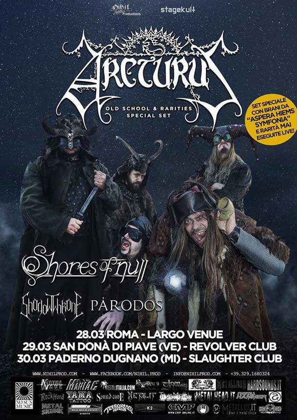 Arcturus in Italia l'ultima settimana di marzo