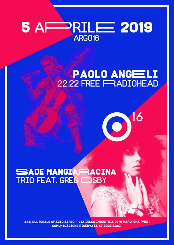 Argo16: le date di aprile (Paolo Angeli, Nu Guinea...)