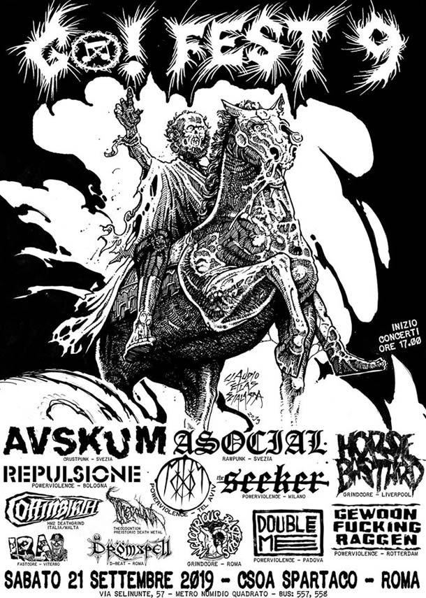 Al Go!Fest di settembre ci saranno Avskum, Asocial, MooM e altri ancora