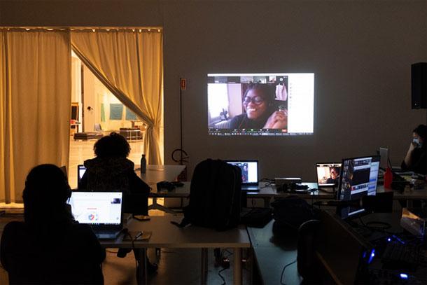 uno scatto di Luisa Pisetta durante il workshop di Rokia Bamba