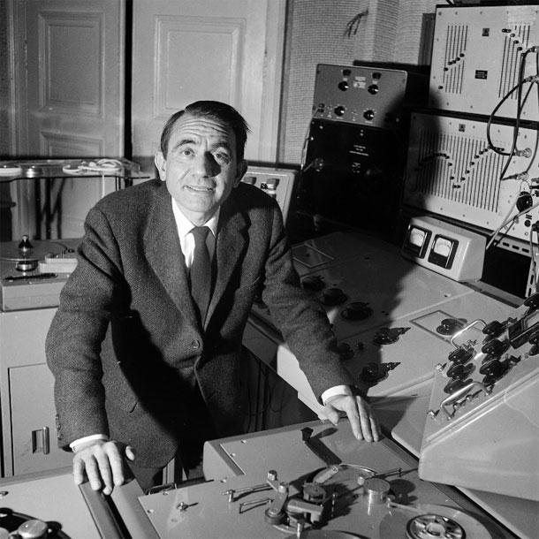 Pierre Schaeffer - foto di Laszlo Ruszka (1963) - ©INA