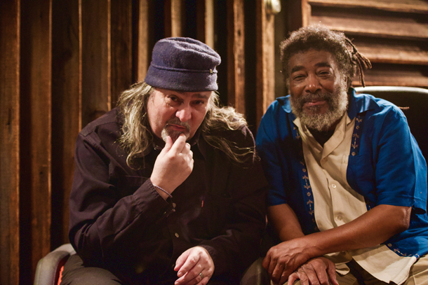 Bill Laswell and Wadada Leo Smith fotografati da R.I. Sutherland-Cohen.